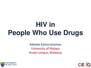 HIV in  People Who Use Drugs