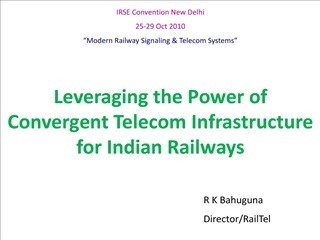 Leveraging the Power of  Convergent Telecom Infrastructure  for Indian Railways