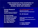 Initial Assessment of the Contribution of Renewable Energy Technologies in  Jordan, Syria and Lebanon