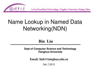Name  Lookup in  Named Data Networking(NDN)