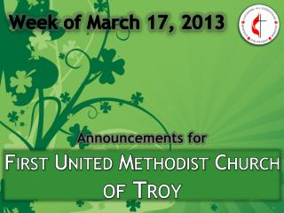 First United Methodist Church  of Troy