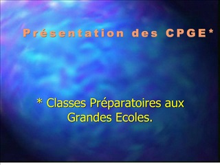Classes Pr paratoires aux Grandes Ecoles.