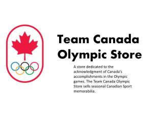 Team Canada  Olympic Store