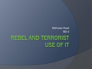 Rebel and terrorist use of it