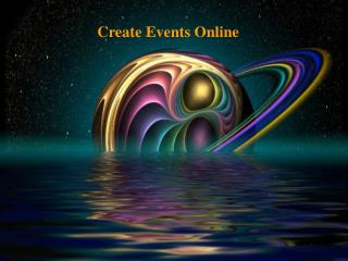 Create Events Online