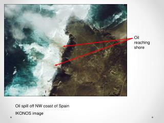 Oil spill off NW coast of Spain IKONOS image