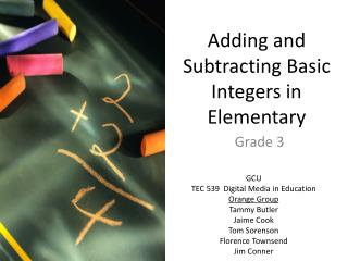 Adding and Subtracting Basic Integers in Elementary