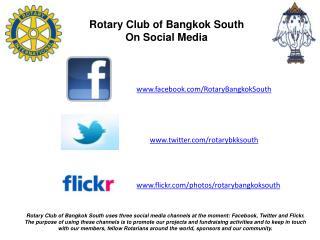 www.facebook.com / RotaryBangkokSouth