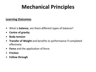 Mechanical Principles
