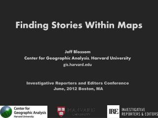 Finding Stories Within Maps