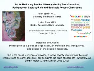 Art as Mediating Tool for Literacy Identity Transformation: