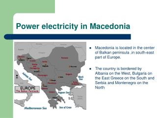 Power electricity in Macedonia