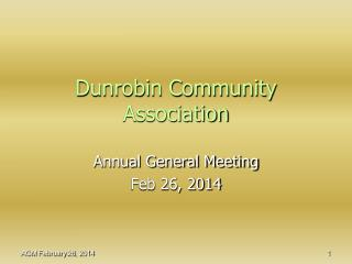 Dunrobin Community Association