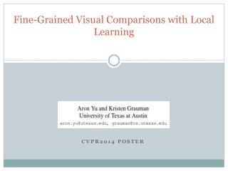 Fine-Grained Visual Comparisons with Local Learning