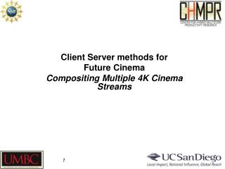 Client Server methods for  Future Cinema Compositing Multiple 4K Cinema Streams