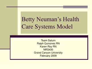 Betty Neuman???s Health Care Systems Model