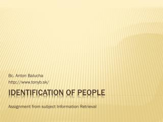 Identification of people