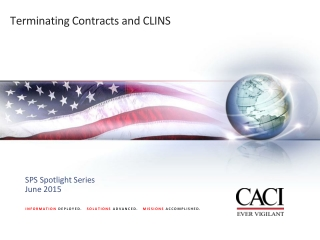 Terminating Contracts and CLINS