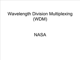 Wavelength Division Multiplexing WDM    NASA
