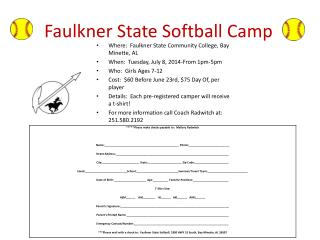 Faulkner State Softball Camp