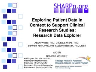 Exploring Patient Data in Context to Support Clinical Research Studies:  Research  Data Explorer
