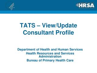 TATS – View/Update Consultant Profile