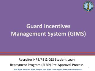 Guard Incentives  Management System (GIMS)