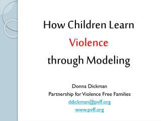 How Children Learn Violence through Modeling