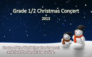 Grade 1/2 Christmas Concert