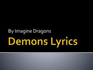 Demons Lyrics