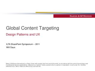 Global Content Targeting