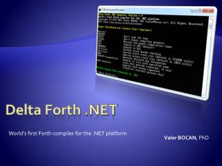 Delta Forth .NET