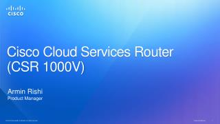 Cisco Cloud Services Router  (CSR 1000V)