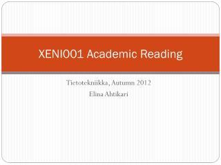 XENI001 Academic Reading