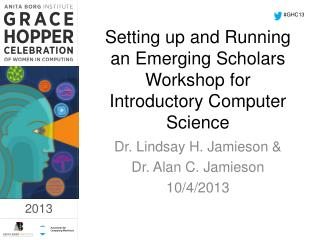 Setting up and Running an Emerging Scholars Workshop for Introductory Computer Science