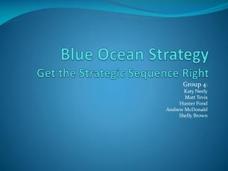 Blue Ocean Strategy Get the Strategic Sequence Right