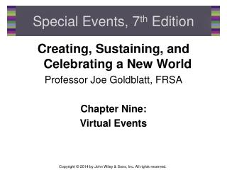 Special Events, 7 th  Edition