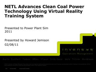 NETL Advances Clean Coal Power Technology Using Virtual Reality Training System