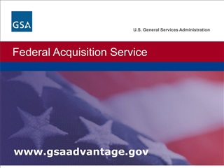 Section 1: Searching on  GSA Advantage