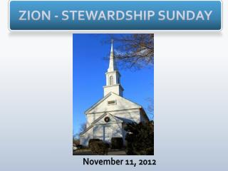 ZION - STEWARDSHIP SUNDAY