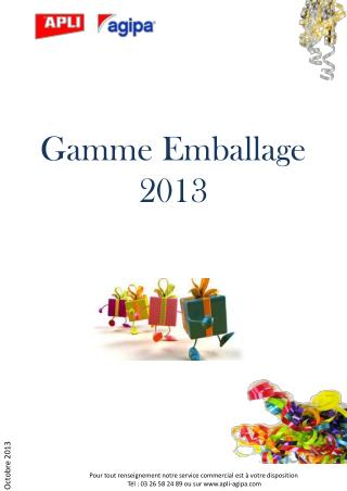 Gamme Emballage  2013