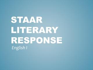 STAAR Literary Response