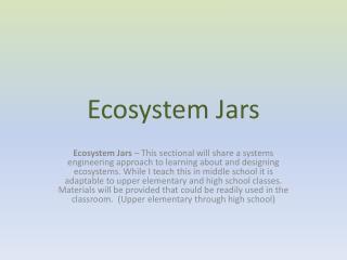 Ecosystem Jars