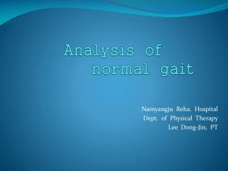 Analysis  of   normal   gait