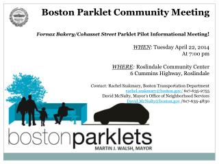 Boston  Parklet  Community Meeting