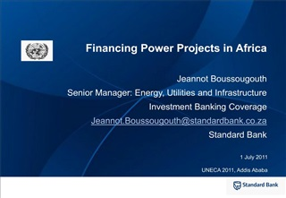 Financing Power Projects in Africa