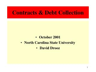 Contracts & Debt Collection