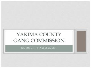 Yakima County  Gang Commission