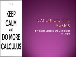 Calculus: The Basics