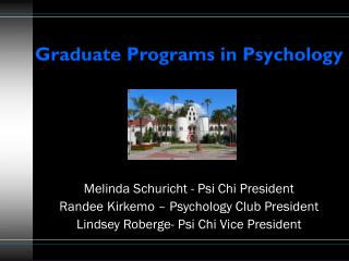 Graduate Programs in Psychology